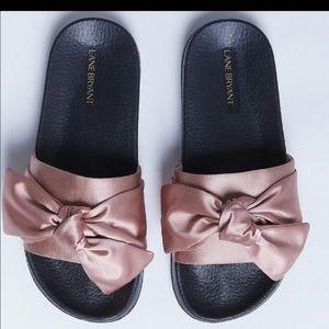 Lane Bryant Satin Bow 11w sandals